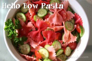 denna's ideas: pasta salad, party food for a Lalaloopsy or Hello Kitty  party
