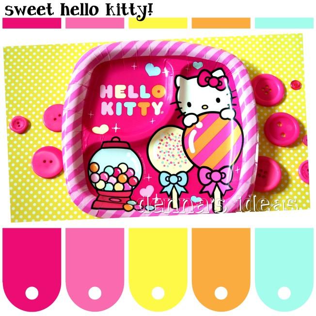 denna's ideas: little girl party color palette