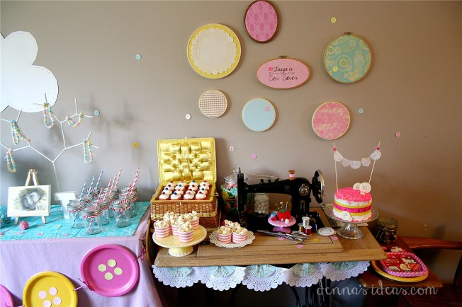 Lalaloopsy party dessert table  by dennasideas.com