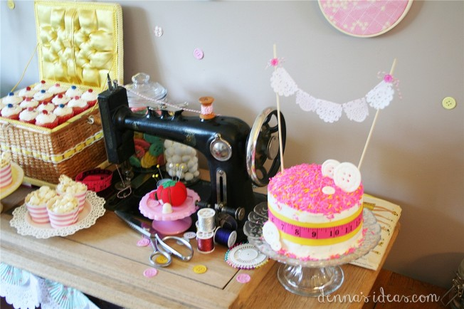 denna's ideas: how to make a Lalaloopsy Sewing party cake with sprinkles