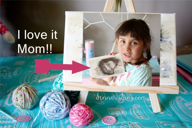 Easy DIY Photo Canvas by dennasideas.com
