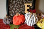 Easy DIY No-Sew Fabric Pumpkins for Fall Decor