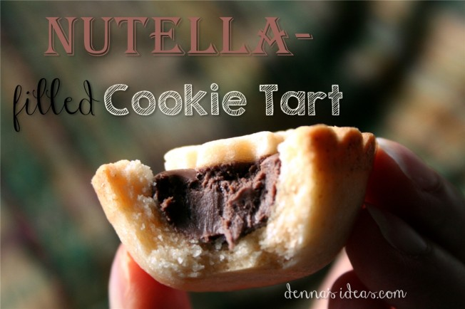 denna's ideas.com: Nutella-filled cookie tarts, with how-to and recipe