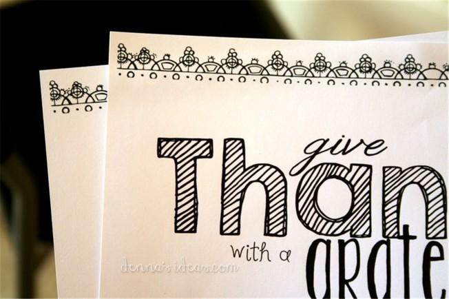 Thanksgiving printable by dennasideas.com, easy Fall Decor ideas from denna's ideas!