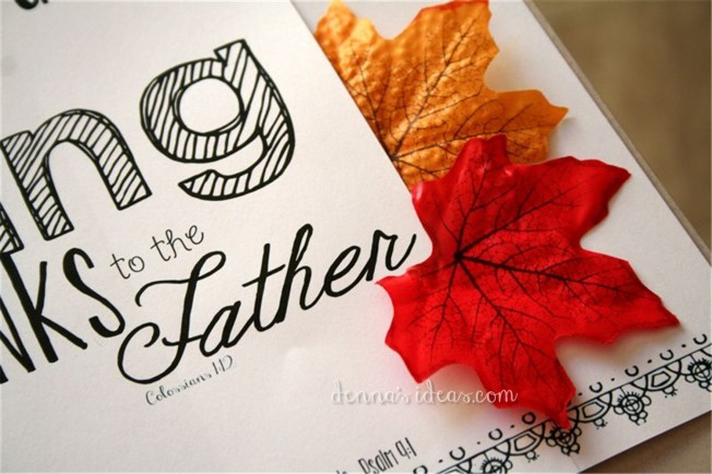 Thanksgiving printable by dennasideas.com, easy Fall Decor ideas from denna's ideas!