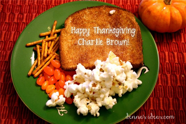 Charlie Brown Thanksgiving meal by dennasideas.com
