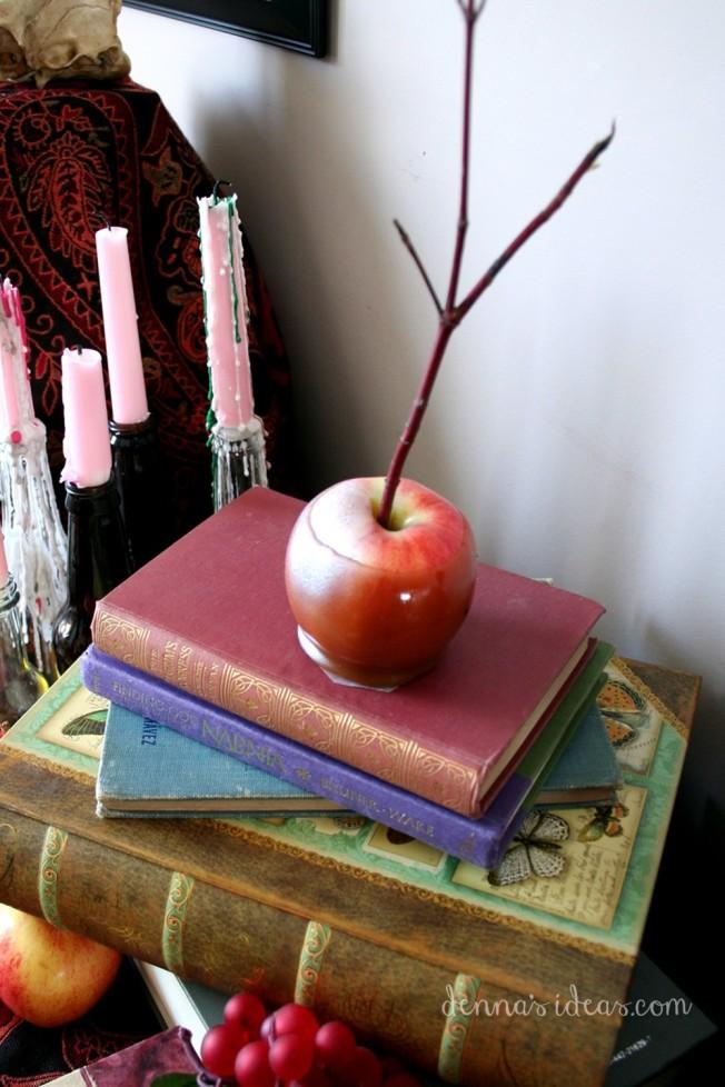 Caramel apple for Narnia theme, the Magician's Nephew by dennasideas.com