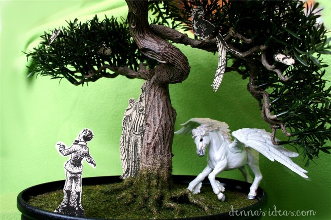 DIY Narnia theme, C.S. Lewis, Narnia diorama  from The Magician's Nephew by dennasideas.com