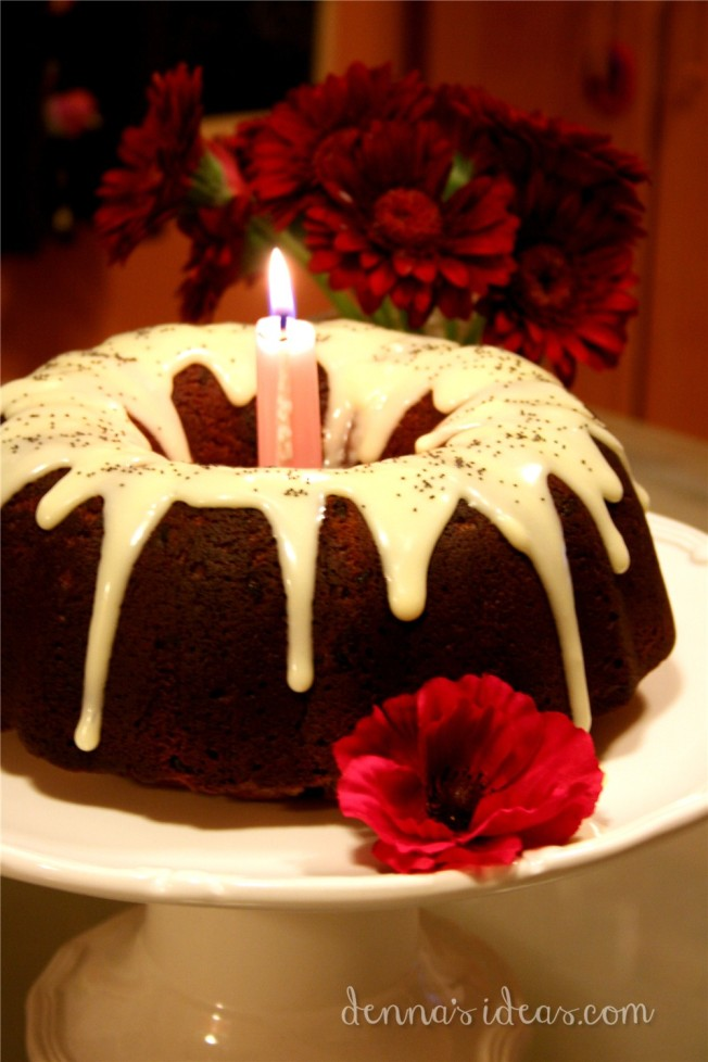 denna's ideas: Remembrance Day poppy seed bundt cake