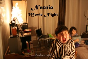The Lion, the Witch and the Wardrobe: Chronicles of Narnia movie night by dennasideas.com #Narnia #DIY Narnia party #family movie night