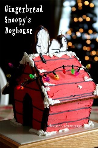 Gingerbread Snoopy Doghouse_dennasideas.com