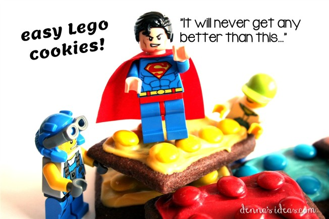 how to make easy Lego brick cookies by dennasideas.com - Page 001