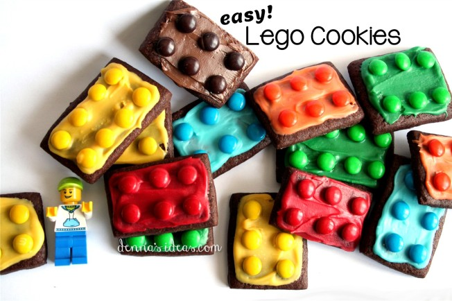 how to make easy Lego brick cookies by dennasideas.com - Page 004