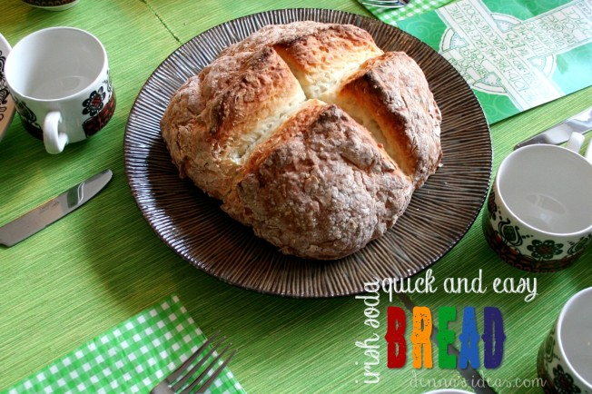 Quick and easy Irish soda bread for St. Patrick's Day or really just for any day! Delicious and easy, recipe posted by dennasideas.com