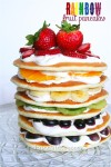 St. Patrick's Day Healthy Fruit Rainbow Pancakes