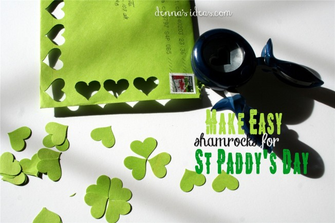 St Paddy's Day easy to DIY shamrocks  dennasideas.com