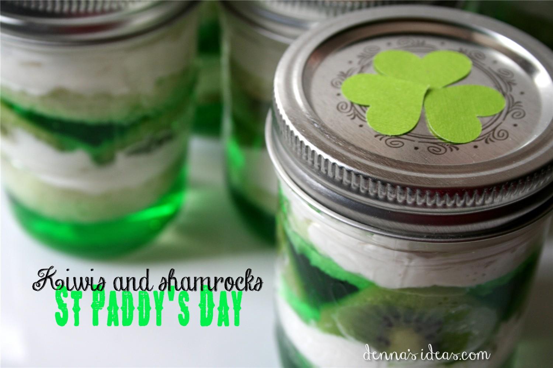 St Paddy S Day Green Mason Jar Desserts Denna S Ideas