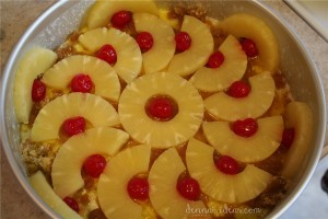 how to make pineapple upside-down cake by dennasideas.com - Page 011