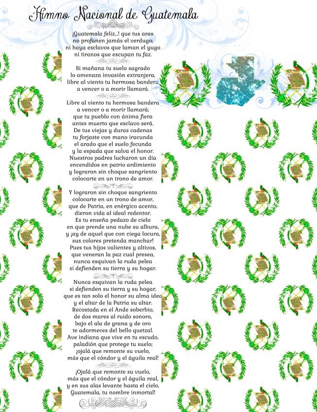 15 de Septiembre,  himno nacional de Guatemala, dennasideas.com