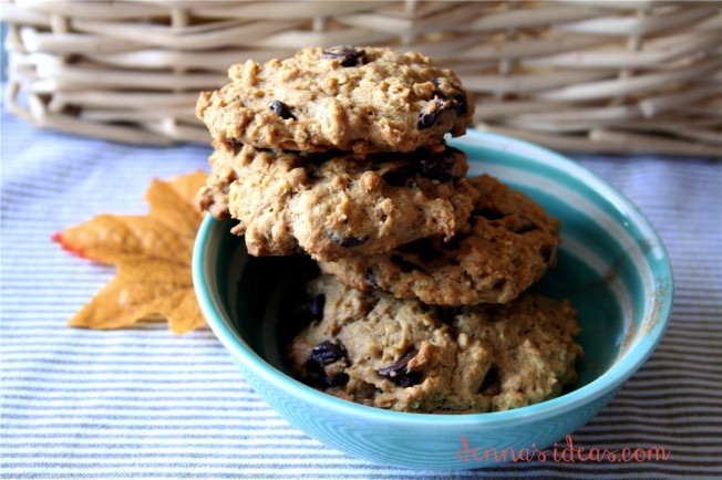 Pumpkin Oatmeal Cookies by dennasideas.com -