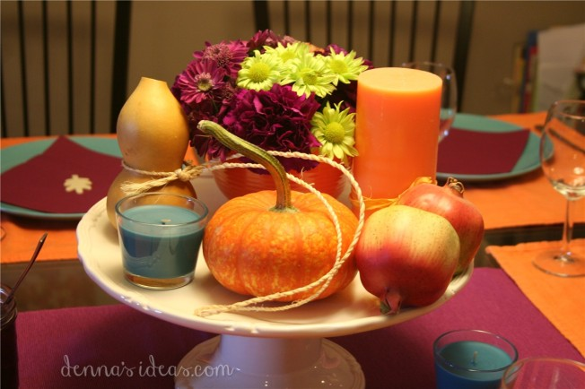 simple modern Thanksgiving table setting by dennasideas.com - Page 003