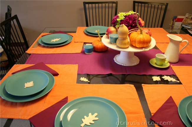 simple modern Thanksgiving table setting by dennasideas.com - Page 006