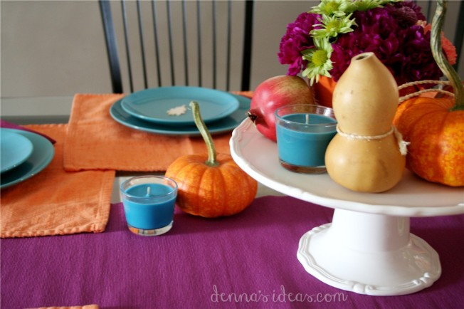 simple modern Thanksgiving table setting by dennasideas.com - Page 008