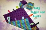 my sewist journey: making a minky baby taggie and stuffed blocks