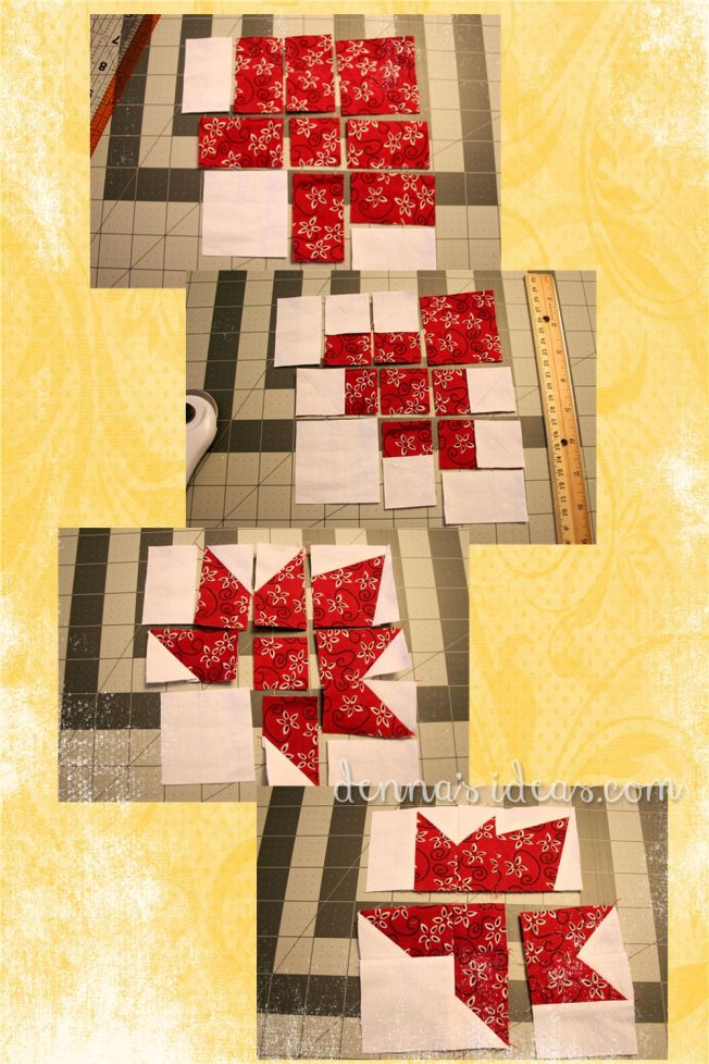 maple leaf quilt block flag by dennasideas.com - Page 001
