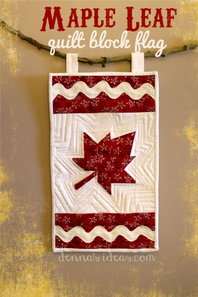 maple leaf quilt block flag by dennasideas.com - Page 002