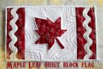 Maple Leaf quilt block flag