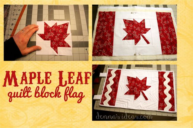 maple leaf quilt block flag by dennasideas.com - Page 004