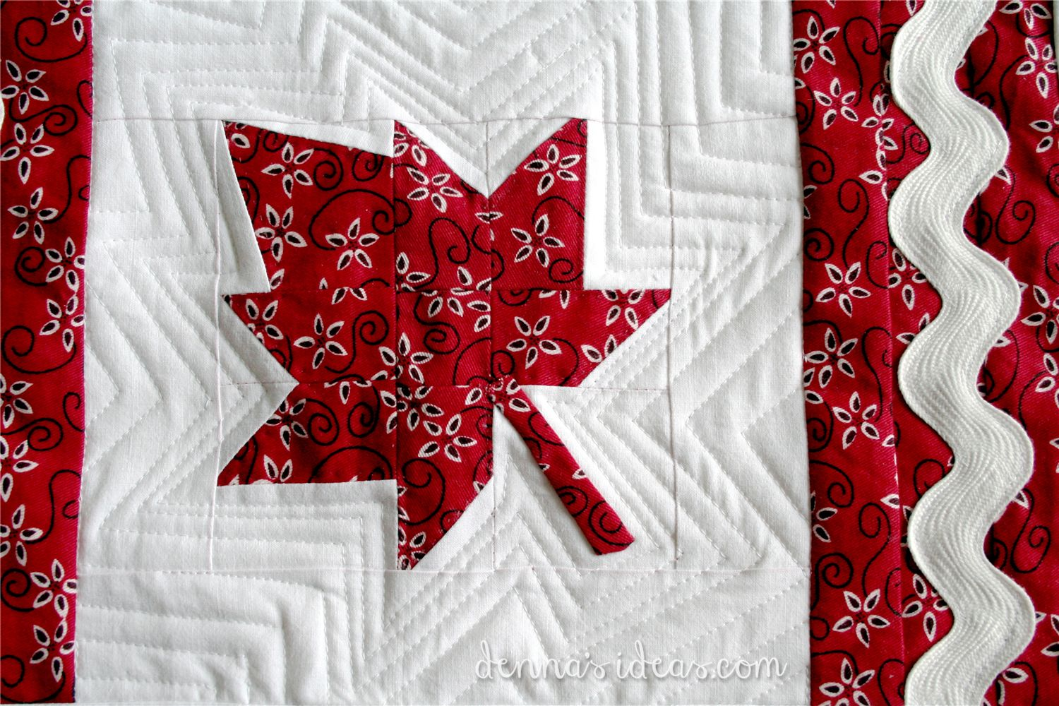 Leaf Quilt Pattern Blocks : red and white denna s ideas