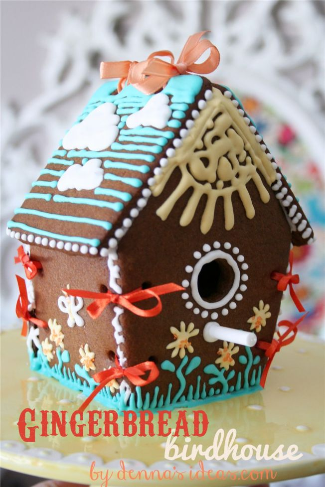 Gingerbread Birdhouse by dennasideas.com - Page 002